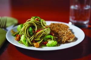 Barilla Protein+™ multigrain pasta with Arugula Pesto